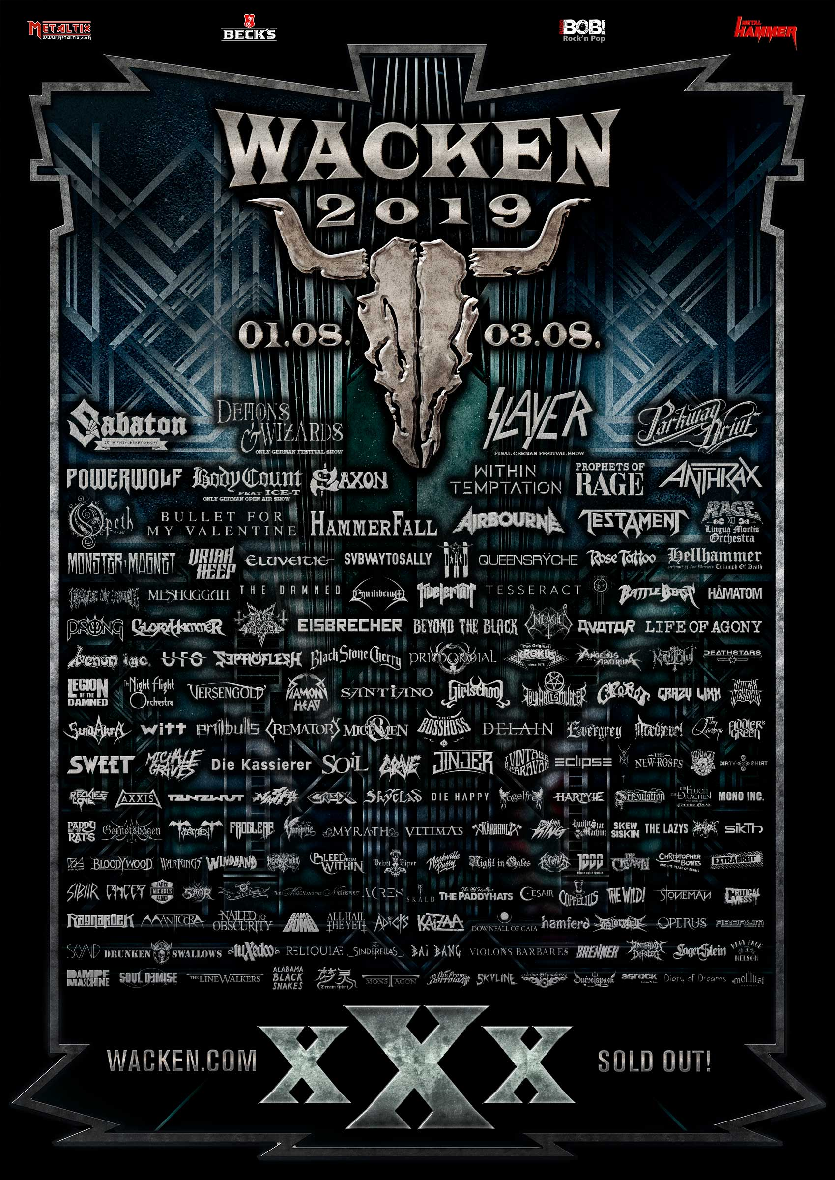 53 new bands for the Easter holidays!   W:O:A - Wacken Open Air